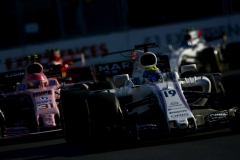 Baku City Circuit, Baku, Azerbaijan.Sunday 25 June 2017.Felipe Massa, Williams FW40 Mercedes, leads Esteban Ocon, Force India VJM10 Mercedes.Photo: Andrew Hone/Williamsref: Digital Image _ONY8688