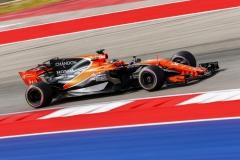 Circuit of the Americas, Austin, Texas, United States of America.Friday 20 October 2017.Fernando Alonso, McLaren MCL32 Honda.Photo: Andrew Hone/McLarenref: Digital Image _ONZ6741