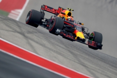 AUSTIN, TX - OCTOBER 20: Max Verstappen of the Netherlands driving the (33) Red Bull Racing Red Bull-TAG Heuer RB13 TAG Heuer on track during practice for the United States Formula One Grand Prix at Circuit of The Americas on October 20, 2017 in Austin, Texas. (Photo by Clive Rose/Getty Images) // Getty Images / Red Bull Content Pool // P-20171020-01070 // Usage for editorial use only // Please go to www.redbullcontentpool.com for further information. //