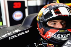 NORTHAMPTON, ENGLAND - JULY 14: Max Verstappen of Netherlands and Red Bull Racing prepares to drive during practice for the Formula One Grand Prix of Great Britain at Silverstone on July 14, 2017 in Northampton, England. (Photo by Mark Thompson/Getty Images) // Getty Images / Red Bull Content Pool // P-20170714-00916 // Usage for editorial use only // Please go to www.redbullcontentpool.com for further information. //