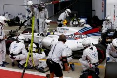 Silverstone, Northamptonshire, UK.Sunday 16 July 2017.Felipe Massa, Williams FW40 Mercedes, makes a pit stop during the race.Photo: Andrew Hone/Williamsref: Digital Image _ONY7952
