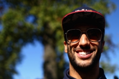 MONZA, ITALY - SEPTEMBER 03: Daniel Ricciardo of Australia and Red Bull Racing arrives at the circuit before the Formula One Grand Prix of Italy at Autodromo di Monza on September 3, 2017 in Monza, Italy. (Photo by Dan Istitene/Getty Images) // Getty Images / Red Bull Content Pool // P-20170903-15093 // Usage for editorial use only // Please go to www.redbullcontentpool.com for further information. //
