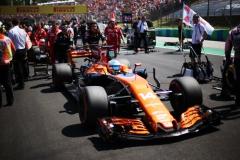 Hungaroring, Budapest, Hungary. .Sunday 30 July 2017.Fernando Alonso, McLaren MCL32 Honda, arrives on the grid.Photo: Charles Coates/McLarenref: Digital Image AN7T6696