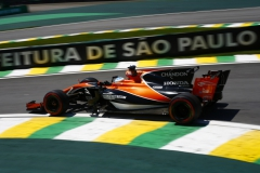 Interlagos, Sao Paulo, Brazil.Friday 10 November 2017.Fernando Alonso, McLaren MCL32 Honda.World Copyright: Andy Hone/LAT Images ref: Digital Image _ONY7745