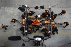 Sepang International Circuit, Sepang, Malaysia.Sunday 01 October 2017.Stoffel Vandoorne, McLaren MCL32 Honda, makes a pit stop.World Copyright: Steven Tee/McLaren ref: Digital Image _O3I4177