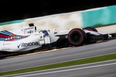 Sepang International Circuit, Sepang, Malaysia.Friday 29 September 2017.Felipe Massa, Williams FW40 Mercedes. Photo: Zak Mauger/Williamsref: Digital Image W56I1888