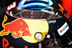 MONTE-CARLO, MONACO - MAY 25: Nicky Hayden tribute on the helmet of Daniel Ricciardo of Australia and Red Bull Racing in the garage during practice for the Monaco Formula One Grand Prix at Circuit de Monaco on May 25, 2017 in Monte-Carlo, Monaco. (Photo by Mark Thompson/Getty Images) // Getty Images / Red Bull Content Pool // P-20170525-00581 // Usage for editorial use only // Please go to www.redbullcontentpool.com for further information. //