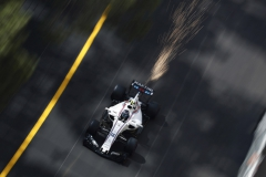 Monte Carlo, Monaco.Thursday 25 May 2017.Sparks fly from the car of Lance Stroll, Williams FW40 Mercedes.Photo: Glenn Dunbar/Williamsref: Digital Image _X4I1337