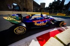 BAKU, AZERBAIJAN - APRIL 26: Alex Albon of Scuderia Toro Rosso and Thailand during practice for the F1 Grand Prix of Azerbaijan at Baku City Circuit on April 26, 2019 in Baku, Azerbaijan. (Photo by Peter Fox/Getty Images) // Getty Images / Red Bull Content Pool  // AP-1Z5CMDTR51W11 // Usage for editorial use only // Please go to www.redbullcontentpool.com for further information. //