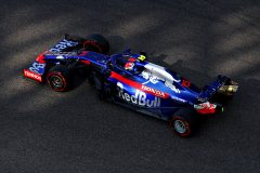 ABU DHABI, UNITED ARAB EMIRATES - NOVEMBER 30: Pierre Gasly of France driving the (10) Scuderia Toro Rosso STR14 Honda on track during final practice for the F1 Grand Prix of Abu Dhabi at Yas Marina Circuit on November 30, 2019 in Abu Dhabi, United Arab Emirates. (Photo by Francois Nel/Getty Images) // Getty Images / Red Bull Content Pool  // AP-22BFHMGZH1W11 // Usage for editorial use only //