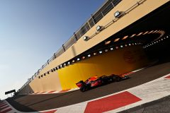 ABU DHABI, UNITED ARAB EMIRATES - NOVEMBER 30: Alexander Albon of Thailand driving the (23) Aston Martin Red Bull Racing RB15 leaves the pitlane during final practice for the F1 Grand Prix of Abu Dhabi at Yas Marina Circuit on November 30, 2019 in Abu Dhabi, United Arab Emirates. (Photo by Mark Thompson/Getty Images) // Getty Images / Red Bull Content Pool  // AP-22BFYBZZ11W11 // Usage for editorial use only //