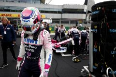 Sergio Perez, Racing Point on the grid before the race