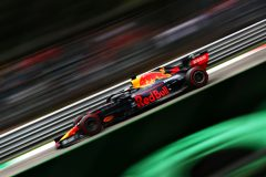 MONZA, ITALY - SEPTEMBER 07: Max Verstappen of the Netherlands driving the (33) Aston Martin Red Bull Racing RB15 on track during final practice for the F1 Grand Prix of Italy at Autodromo di Monza on September 07, 2019 in Monza, Italy. (Photo by Dan Istitene/Getty Images) // Getty Images / Red Bull Content Pool  // AP-21GEKUSHW1W11 // Usage for editorial use only //