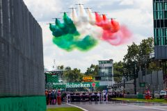 MONZA, ITALY - SEPTEMBER 08: The Grid during the Tricolour Arrows fly past during the F1 Grand Prix of Italy at Autodromo di Monza on September 08, 2019 in Monza, Italy. (Photo by Peter Fox/Getty Images) // Getty Images / Red Bull Content Pool  // AP-21GU755E52111 // Usage for editorial use only //