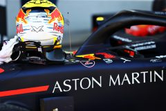 SPIELBERG, AUSTRIA - JUNE 30: The helmet of race winner Max Verstappen of Netherlands and Red Bull Racing is seen in parc ferme during the F1 Grand Prix of Austria at Red Bull Ring on June 30, 2019 in Spielberg, Austria. (Photo by Mark Thompson/Getty Images) // Getty Images / Red Bull Content Pool  // AP-1ZTAAKZ892111 // Usage for editorial use only // Please go to www.redbullcontentpool.com for further information. //