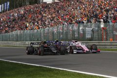 Kevin Magnussen, Haas VF-19, Pierre Gasly, Toro Rosso STR14 and Sergio Perez, Racing Point RP19