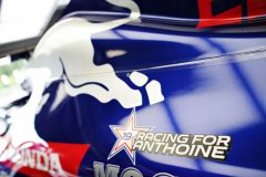 SPA, BELGIUM - SEPTEMBER 01: A tribute to the late Formula 2 driver Anthoine Hubert is seen on the car of Daniil Kvyat of Russia and Scuderia Toro Rosso before the F1 Grand Prix of Belgium at Circuit de Spa-Francorchamps on September 01, 2019 in Spa, Belgium. (Photo by Peter Fox/Getty Images) // Getty Images / Red Bull Content Pool  // AP-21EHGRG4S2111 // Usage for editorial use only //