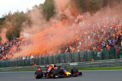 SPA, BELGIUM - SEPTEMBER 01: Max Verstappen of the Netherlands driving the (33) Aston Martin Red Bull Racing RB15 on the formation lap before the F1 Grand Prix of Belgium at Circuit de Spa-Francorchamps on September 01, 2019 in Spa, Belgium. (Photo by Dan Istitene/Getty Images) // Getty Images / Red Bull Content Pool  // AP-21EJTDAUW1W11 // Usage for editorial use only //