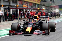 SPIELBERG, AUSTRIA - JULY 04:  Max Verstappen of the Netherlands driving the (33) Aston Martin Red Bull Racing RB16 in the pit lane during final practice for the Formula One Grand Prix of Austria at Red Bull Ring on July 04, 2020 in Spielberg, Austria. (Photo by Peter Fox/Getty Images) // Getty Images / Red Bull Content Pool  // AP-24HB4AEGW1W11 // Usage for editorial use only //