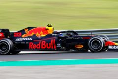 BUDAPEST, HUNGARY - JULY 19: Alexander Albon of Thailand driving the (23) Aston Martin Red Bull Racing RB16 on track during the Formula One Grand Prix of Hungary at Hungaroring on July 19, 2020 in Budapest, Hungary. (Photo by Darko Bandic/Pool via Getty Images) // Getty Images / Red Bull Content Pool  // AP-24P72URU92111 // Usage for editorial use only //
