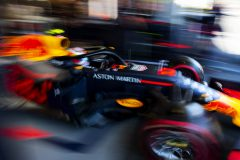 BAKU, AZERBAIJAN - APRIL 27:  Pierre Gasly of France driving the (10) Aston Martin Red Bull Racing RB15 leaves the garage during final practice for the F1 Grand Prix of Azerbaijan at Baku City Circuit on April 27, 2019 in Baku, Azerbaijan. (Photo by Dan Istitene/Getty Images) // Getty Images / Red Bull Content Pool  // AP-1Z61XX8211W11 // Usage for editorial use only // Please go to www.redbullcontentpool.com for further information. //