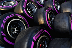 BAKU, AZERBAIJAN - APRIL 28:  Red Bull Racing tyres in the Paddock after qualifying for the Azerbaijan Formula One Grand Prix at Baku City Circuit on April 28, 2018 in Baku, Azerbaijan.  (Photo by Mark Thompson/Getty Images) // Getty Images / Red Bull Content Pool  // AP-1VGJ2N3V92111 // Usage for editorial use only // Please go to www.redbullcontentpool.com for further information. //