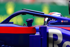 BAKU, AZERBAIJAN - APRIL 27: Pierre Gasly of France and Scuderia Toro Rosso driving the (10) Scuderia Toro Rosso STR13 Honda on track during practice for the Azerbaijan Formula One Grand Prix at Baku City Circuit on April 27, 2018 in Baku, Azerbaijan.  (Photo by Mark Thompson/Getty Images) // Getty Images / Red Bull Content Pool  // AP-1VG76976N1W11 // Usage for editorial use only // Please go to www.redbullcontentpool.com for further information. //