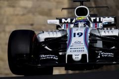Baku City Circuit, Baku, Azerbaijan.Saturday 24 June 2017.Felipe Massa, Williams FW40 Mercedes.Photo: Zak Mauger/Williamsref: Digital Image _54I2628