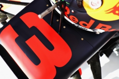 AUSTIN, TX - OCTOBER 21: Number detail on the car of Daniel Ricciardo of Australia and Red Bull Racing during qualifying for the United States Formula One Grand Prix at Circuit of The Americas on October 21, 2017 in Austin, Texas. (Photo by Mark Thompson/Getty Images) // Getty Images / Red Bull Content Pool // P-20171022-00482 // Usage for editorial use only // Please go to www.redbullcontentpool.com for further information. //