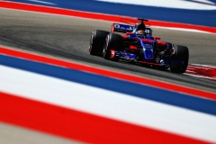AUSTIN, TX - OCTOBER 21: Brendon Hartley of New Zealand driving the (39) Scuderia Toro Rosso STR12 on track during final practice for the United States Formula One Grand Prix at Circuit of The Americas on October 21, 2017 in Austin, Texas. (Photo by Clive Rose/Getty Images) // Getty Images / Red Bull Content Pool // P-20171022-00491 // Usage for editorial use only // Please go to www.redbullcontentpool.com for further information. //