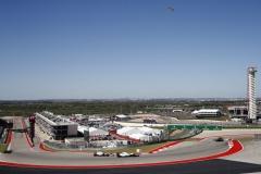 Circuit of the Americas, Austin, Texas, United States of America.Sunday 22 October 2017.Felipe Massa, Williams FW40 Mercedes, leads Sergio Perez, Force India VJM10 Mercedes.Photo: Glenn Dunbar/Williamsref: Digital Image _31I4320