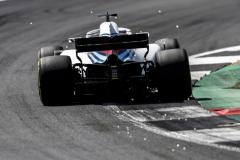 Silverstone Circuit, Northamptonshire, UKSaturday 7 July 2018.Lance Stroll, Williams FW41 Mercedes.Photo: Glenn Dunbar/Williams F1ref: Digital Image _X4I7862