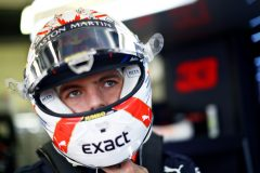 NORTHAMPTON, ENGLAND - JULY 13: Max Verstappen of Netherlands and Red Bull Racing prepares to drive in the garage during final practice for the F1 Grand Prix of Great Britain at Silverstone on July 13, 2019 in Northampton, England. (Photo by Mark Thompson/Getty Images) // Getty Images / Red Bull Content Pool  // AP-1ZXGJB33S2111 // Usage for editorial use only // Please go to www.redbullcontentpool.com for further information. //