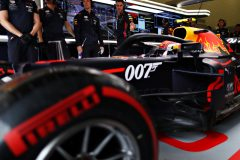 NORTHAMPTON, ENGLAND - JULY 13: Pierre Gasly of France driving the (10) Aston Martin Red Bull Racing RB15 leaves the garage during qualifying for the F1 Grand Prix of Great Britain at Silverstone on July 13, 2019 in Northampton, England. (Photo by Mark Thompson/Getty Images) // Getty Images / Red Bull Content Pool  // AP-1ZXFFX8GN1W11 // Usage for editorial use only // Please go to www.redbullcontentpool.com for further information. //