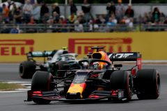 NORTHAMPTON, ENGLAND - JULY 13: Max Verstappen of the Netherlands driving the (33) Aston Martin Red Bull Racing RB15 on track during final practice for the F1 Grand Prix of Great Britain at Silverstone on July 13, 2019 in Northampton, England. (Photo by Charles Coates/Getty Images) // Getty Images / Red Bull Content Pool  // AP-1ZXEJMY9W2111 // Usage for editorial use only // Please go to www.redbullcontentpool.com for further information. //