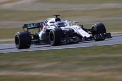 Silverstone Circuit, Northamptonshire, UKFriday 6 July 2018.Lance Stroll, Williams FW41 Mercedes.Photo: Glenn Dunbar/Williams F1ref: Digital Image _X4I5356