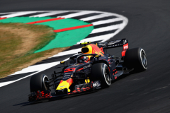 NORTHAMPTON, ENGLAND - JULY 06: Max Verstappen of the Netherlands driving the (33) Aston Martin Red Bull Racing RB14 TAG Heuer on track during practice for the Formula One Grand Prix of Great Britain at Silverstone on July 6, 2018 in Northampton, England.  (Photo by Mark Thompson/Getty Images) // Getty Images / Red Bull Content Pool  // AP-1W6PZ5ZVS1W11 // Usage for editorial use only // Please go to www.redbullcontentpool.com for further information. //