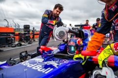 NORTHAMPTON, ENGLAND - JULY 16: Daniil Kvyat of Scuderia Toro Rosso and Russia during the Formula One Grand Prix of Great Britain at Silverstone on July 16, 2017 in Northampton, England. (Photo by Peter Fox/Getty Images) // Getty Images / Red Bull Content Pool // P-20170716-01305 // Usage for editorial use only // Please go to www.redbullcontentpool.com for further information. //