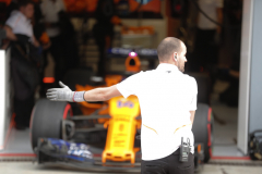 Monza, Italy.Saturday 1 September 2018.Fernando Alonso, McLaren MCL33, is directed out of the garage.Photo: Steven Tee/McLarenref: Digital Image _1ST8140