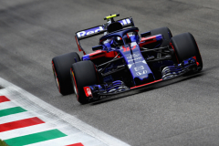 MONZA, ITALY - SEPTEMBER 01: Pierre Gasly of France and Scuderia Toro Rosso driving the (10) Scuderia Toro Rosso STR13 Honda on track during final practice for the Formula One Grand Prix of Italy at Autodromo di Monza on September 1, 2018 in Monza, Italy.  (Photo by Mark Thompson/Getty Images) // Getty Images / Red Bull Content Pool  // AP-1WS1ABZ9N2511 // Usage for editorial use only // Please go to www.redbullcontentpool.com for further information. //