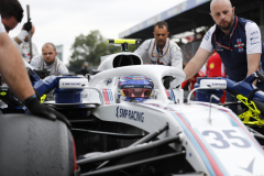 Monza, Italy.Sunday 2 September 2018.Sergey Sirotkin, Williams FW41, arrives on the grid.Photo: Glenn Dunbar/Williams F1ref: Digital Image _X4I3397