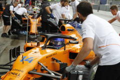 Monza, Italy.Friday 31 August 2018.Fernando Alonso, McLaren MCL33, in the pit lane.Photo: Steven Tee/McLarenref: Digital Image _2ST6317