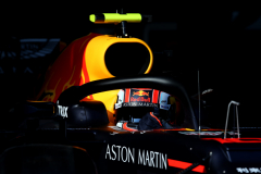 MELBOURNE, AUSTRALIA - MARCH 16:  Pierre Gasly of France driving the (10) Aston Martin Red Bull Racing RB15 leaves the garage during qualifying for the F1 Grand Prix of Australia at Melbourne Grand Prix Circuit on March 16, 2019 in Melbourne, Australia.  (Photo by Charles Coates/Getty Images) // Getty Images / Red Bull Content Pool  // AP-1YR3H1KCD2111 // Usage for editorial use only // Please go to www.redbullcontentpool.com for further information. //