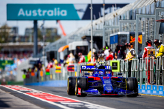 MELBOURNE, AUSTRALIA - MARCH 15: Alex Albon of Scuderia Toro Rosso and Thailand during practice for the F1 Grand Prix of Australia at Melbourne Grand Prix Circuit on March 15, 2019 in Melbourne, Australia. (Photo by Peter Fox/Getty Images) // Getty Images / Red Bull Content Pool  // AP-1YQRJF3B92111 // Usage for editorial use only // Please go to www.redbullcontentpool.com for further information. //