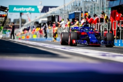 MELBOURNE, AUSTRALIA - MARCH 23: Brendon Hartley of Scuderia Toro Rosso and New Zealand during practice for the Australian Formula One Grand Prix at Albert Park on March 23, 2018 in Melbourne, Australia. (Photo by Peter Fox/Getty Images) // Getty Images / Red Bull Content Pool // AP-1V4SQSFWW2111 // Usage for editorial use only // Please go to www.redbullcontentpool.com for further information. //
