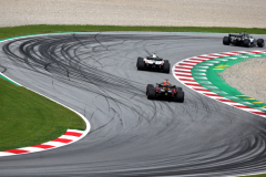 SPIELBERG, AUSTRIA - JUNE 30:  Daniel Ricciardo of Australia driving the (3) Aston Martin Red Bull Racing RB14 TAG Heuer follows Kevin Magnussen of Denmark driving the (20) Haas F1 Team VF-18 Ferrari on track during qualifying for the Formula One Grand Prix of Austria at Red Bull Ring on June 30, 2018 in Spielberg, Austria.  (Photo by Charles Coates/Getty Images) // Getty Images / Red Bull Content Pool  // AP-1W4TSEYCN2111 // Usage for editorial use only // Please go to www.redbullcontentpool.com for further information. //
