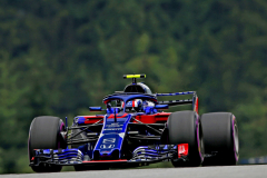 SPIELBERG, AUSTRIA - JUNE 30: Pierre Gasly of France and Scuderia Toro Rosso driving the (10) Scuderia Toro Rosso STR13 Honda on track during final practice for the Formula One Grand Prix of Austria at Red Bull Ring on June 30, 2018 in Spielberg, Austria.  (Photo by Charles Coates/Getty Images) // Getty Images / Red Bull Content Pool  // AP-1W4SSDVWN2111 // Usage for editorial use only // Please go to www.redbullcontentpool.com for further information. //