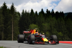 SPIELBERG, AUSTRIA - JULY 08: Max Verstappen of the Netherlands driving the (33) Red Bull Racing Red Bull-TAG Heuer RB13 TAG Heuer on track during final practice for the Formula One Grand Prix of Austria at Red Bull Ring on July 8, 2017 in Spielberg, Austria. (Photo by Clive Mason/Getty Images) // Getty Images / Red Bull Content Pool // P-20170708-02115 // Usage for editorial use only // Please go to www.redbullcontentpool.com for further information. //