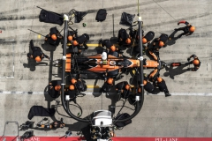 Red Bull Ring, Spielberg, Austria.Sunday 9 July 2017.Stoffel Vandoorne, McLaren MCL32 Honda, makes a pit stop during the race.Photo: Glenn Dunbar/McLarenref: Digital Image DSC03411