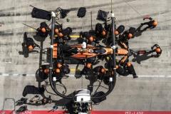 Red Bull Ring, Spielberg, Austria.Sunday 9 July 2017.Stoffel Vandoorne, McLaren MCL32 Honda, makes a pit stop during the race.Photo: Glenn Dunbar/McLarenref: Digital Image DSC03411